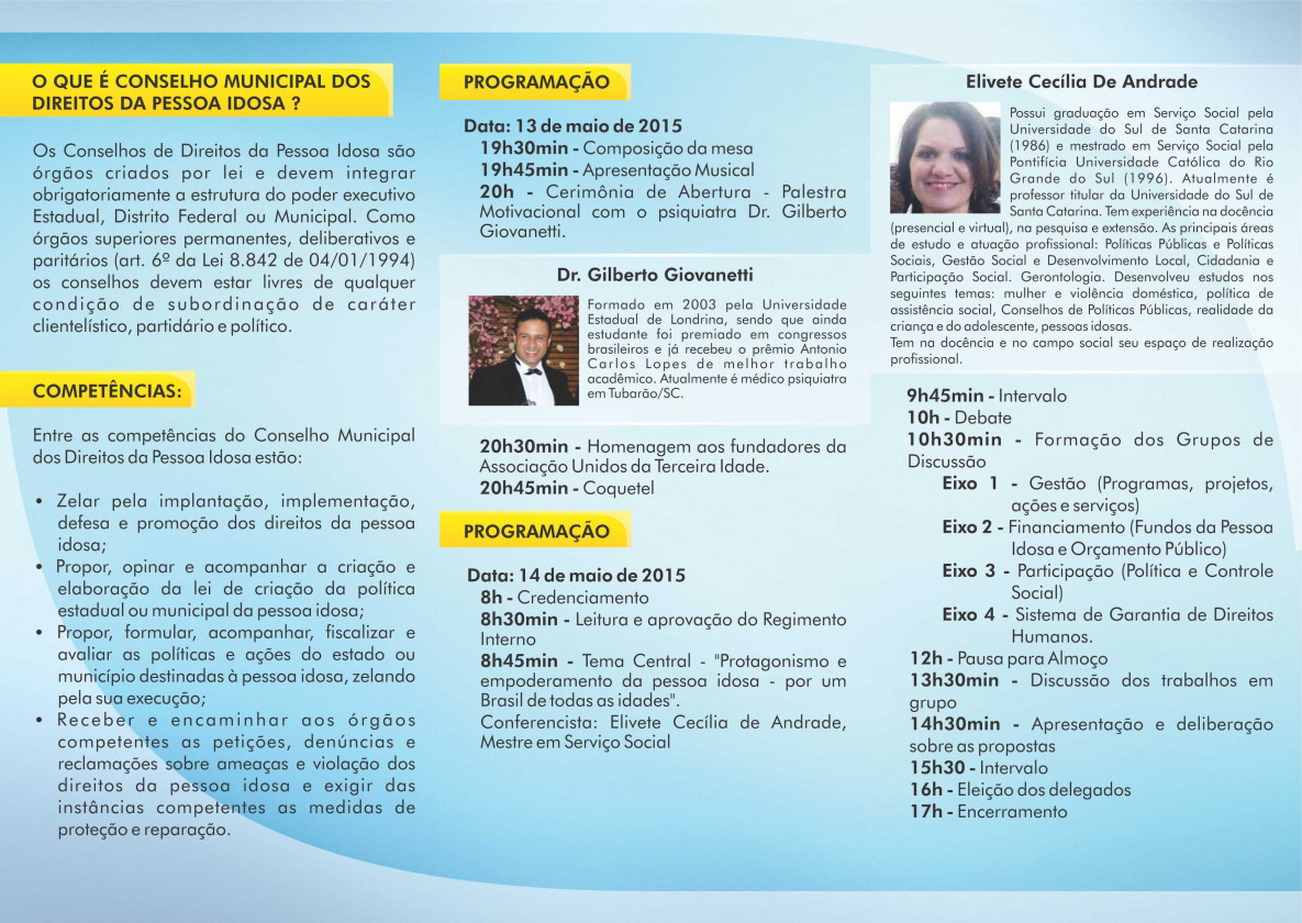 Capivari De Baixo Promove Conferência Municipal Dos Direitos