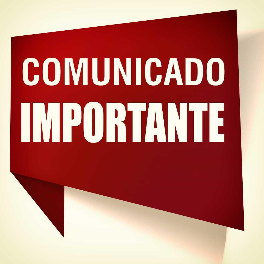 COMUNICADO IMPORTANTE - Município de Catanduvas
