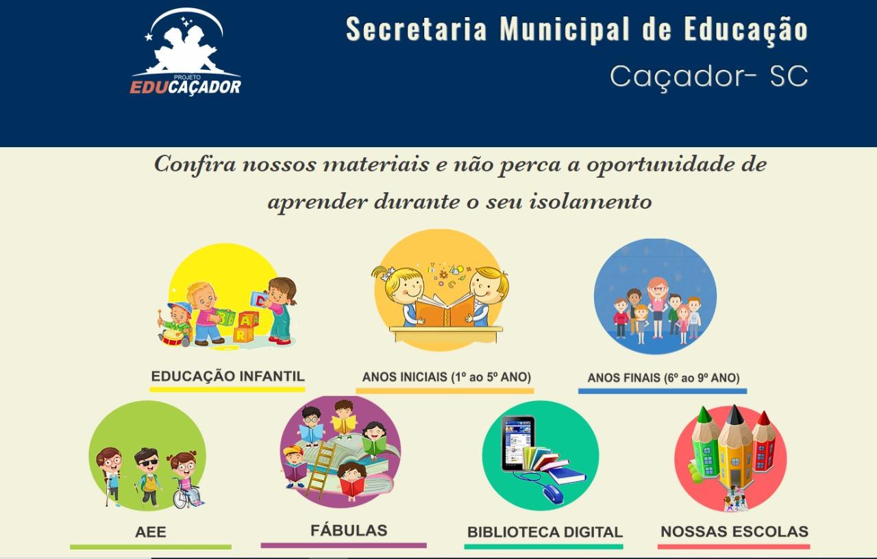 Prefeitura Inicia Aulas Online Para Alunos Das Escolas Municipais Municipio De Cacador